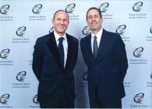 Jerry Seinfeld and Jonathan Alderson